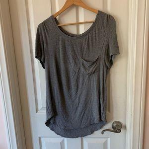 hollister grey pocket t-shirt